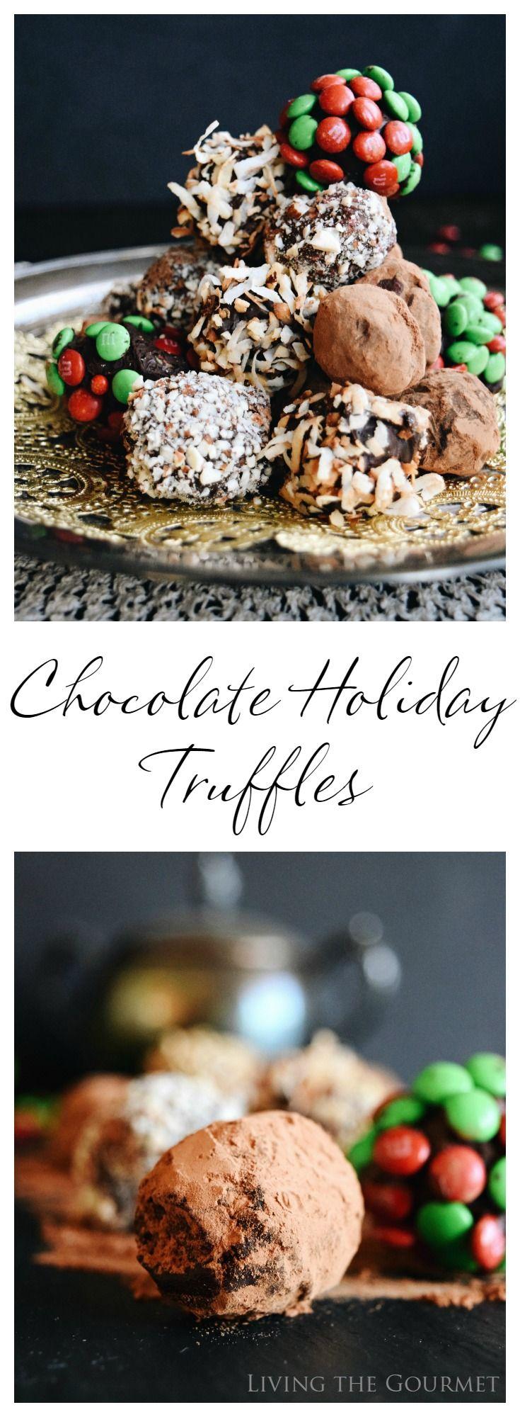 Living the Gourmet: Chocolate Holiday Truffles | #SweetSquad #BakeInTheFun #Ad @walmart