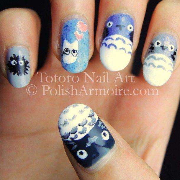 Totoro Nail Art
