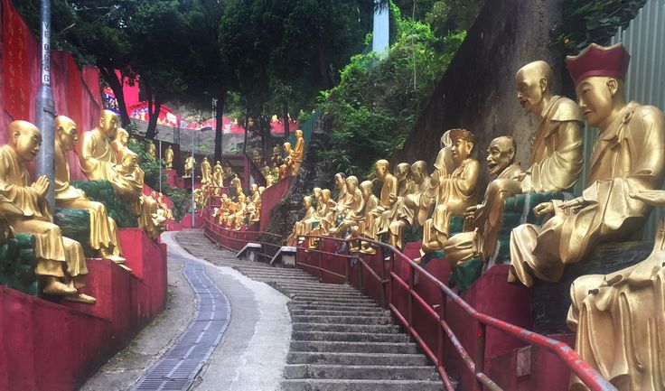 "A good part of the way was climbing steps! - - ""The Truth about the 10000 Buddhas Monastery"" - Two Traveling Texans"
