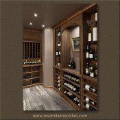 (28) CHG-03-Rosehill - Walnut Wine Cellar with Beeswax Finish