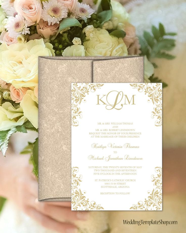 templates for wedding card design%0A Champagne Wedding Invitations  DIY Printable Templates  Kaitlyn Design  Series