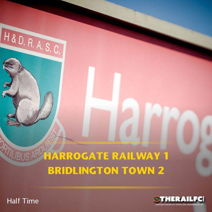 HT: Harrogate Railway 1-2 Bridlington Town    @therailfc @bridtownafc @howell_rm