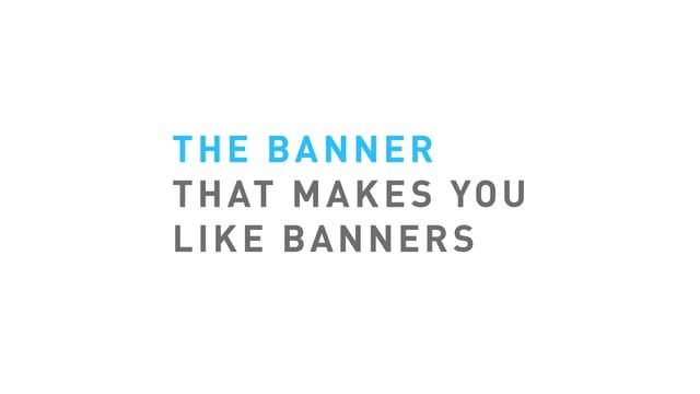 Post-it® The banner that makes you like banners バナーをポスト・イットに。シンプルで強い