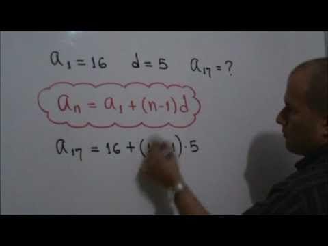 Encontrar un término en una Progresión Aritmética: Julio Rios explica el siguiente problema: En una Progresión Aritmética el primer término es 16 y la diferencia común es 5. ¿Cuál es el valor del décimo séptimo término?