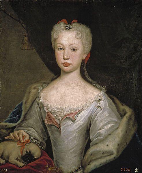 Domenico Duprà (1689–1770)   Portrait of Maria Barbara de Bragança (1711-1758)  Description  Español: Bárbara de Braganza, reina de España  Date1725