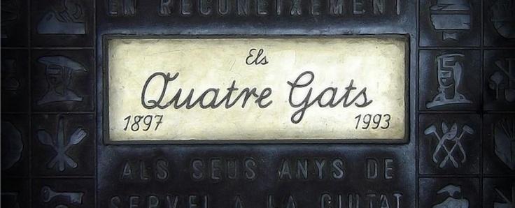 Els quatre Gats sau 4Gats, o cafenea din Barcelona pe care Picasso o frecventa adesea