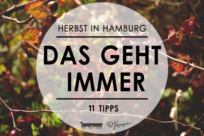 Hier kommen unsere 11 Tipps für den Herbst in Hamburg.