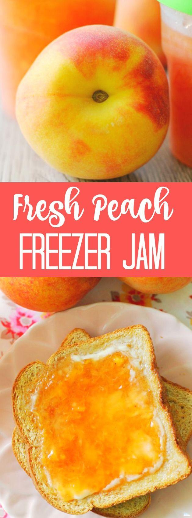 Fresh Peach Freezer Jam