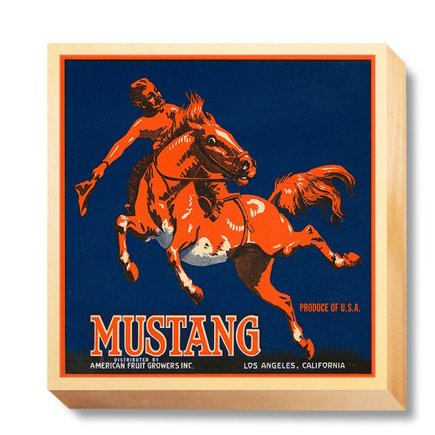 LAB 054 Crate Label Mustang Fruit