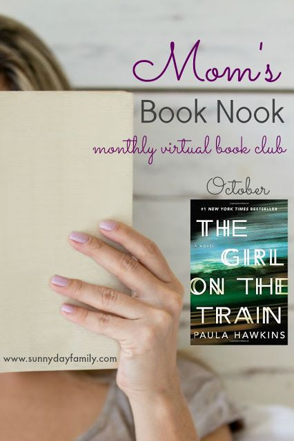 Join our monthly online book club! In October, we're discussing The Girl on the Train by Paula Hawkins. Read it then join us on Facebook to chat!