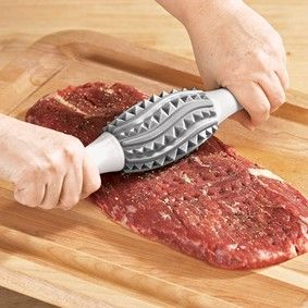 I love this and would love to know who manufacturers it.  Rolling Meat Tenderizer @ Fresh Finds... I WANT ONE!