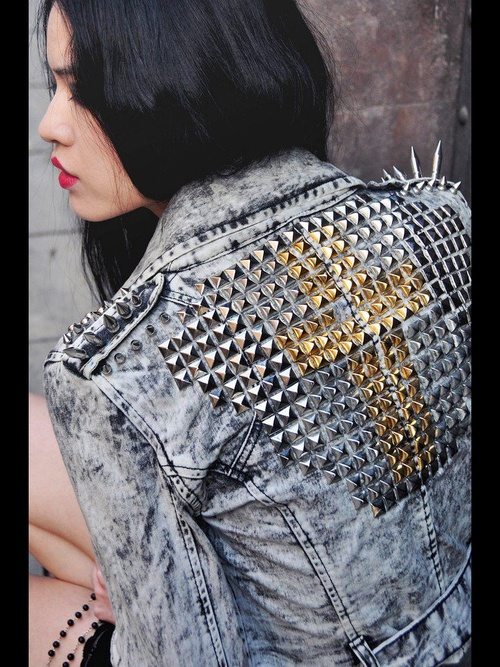 That studded denim jean Jacket is Amazing!