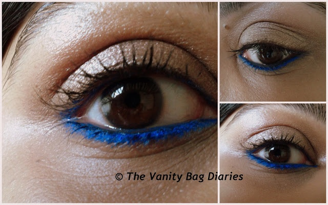 Have heard a lot about Rimmel Scandaleyes Kohl Kajal eyeliners and have been wanting to try these since a while now. I finally bought it when Big W had 4 $ off on Rimmel products. I will be reviewing Rimmel Scandaleyes Kohl Kajal in 'Bright Blue' today.     There are a lot of good pigmented, long st