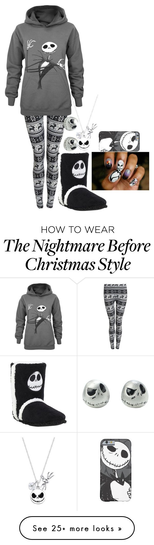 """""""Outfit #7 (The Night(Mare) Before Christmas)"""" by lol-fangirl-af on Polyvore featuring mode en Disney"""