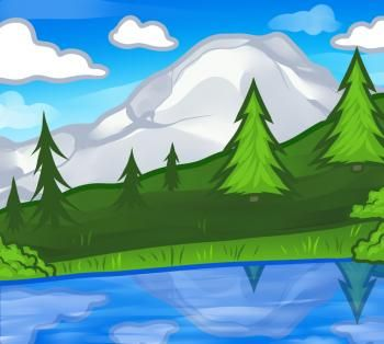 How to Draw a Landscape for Kids, Step by Step, Landscapes, Landmarks & Places, FREE Online Drawing Tutorial, Added by Dawn, January 4, 2012, 12:18:45 am