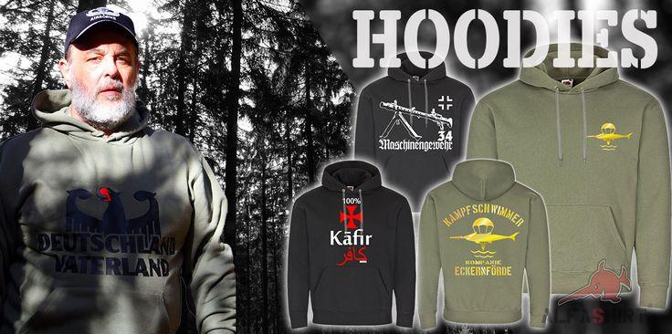 Kapuzenpullover aller Art #Pulli #Pullover #Army #Military #Bundeswehr #alfashirt #Alfashirt
