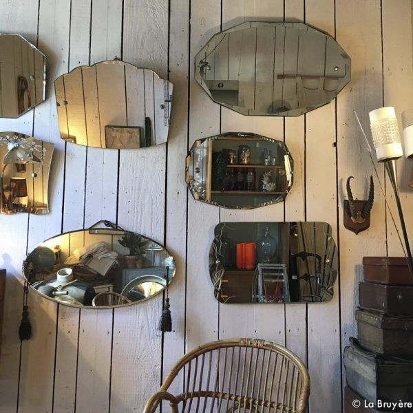 miroir biseaut des ann es 1930 brocante de la bruy re pinterest miroir biseaut biseaut. Black Bedroom Furniture Sets. Home Design Ideas