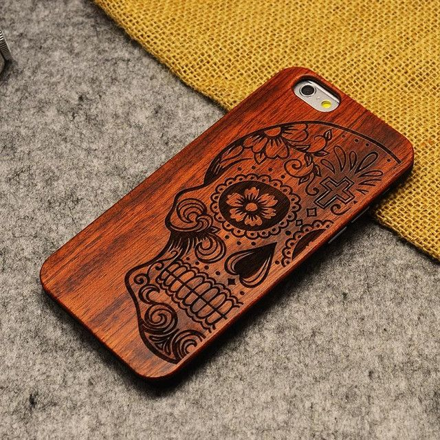 Bamboo Wood Design ShockProof iPhone Cases For iPhone 5 5S 6 6S 6Plus 6S Plus 7 7Plus Cover