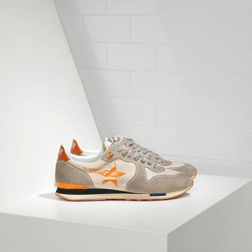 Golden Goose Tenisice - Golden Goose Outlet Running Sneakers Technical Fabric Printed Star