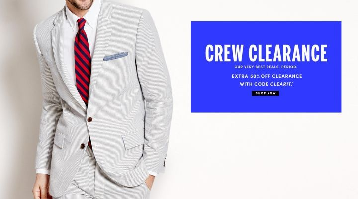 J. Crew Factory Extra 50% off Clearance Sale