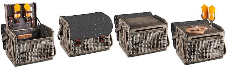 Picnic Time Anthology Collection 8-Pc. Kabrio Wine & Cheese Basket