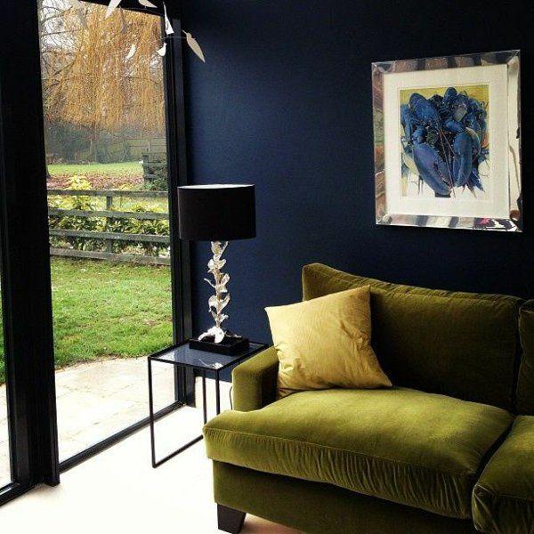 die 25+ besten ideen zu dunkelblaue wände auf pinterest | marine ... - Wohnzimmer Ideen Wandgestaltung Blau