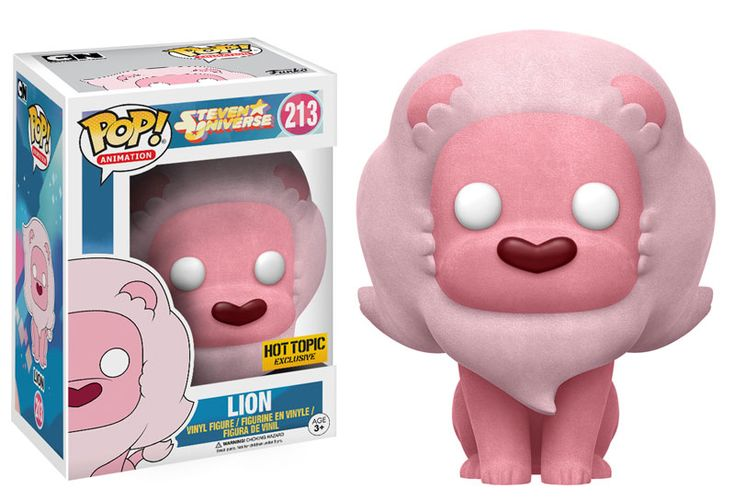 Pop! Animation: Steven Universe More Crystal Gems are coming to Funko Pop! vinyl! Collect Steven's best friend Connie; Rose Quartz, founder of theCrystal Gems; Lion, the magical pink lion; as well as Peridot and Lapis! Flocked Lion is only available at Hot Topic! Collect them all this spring!   Coming in March!
