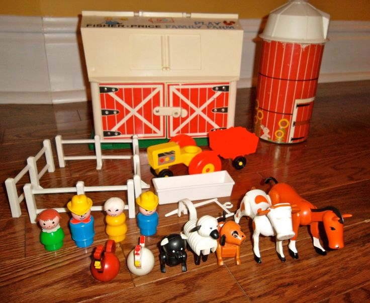 Vintage Fisher Price Farm Set - They tried to re-release a retro version a couple years ago that ...