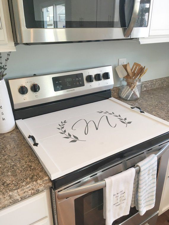 Stove Top Cover Custom Wooden Stove Cover Personalized Wooden