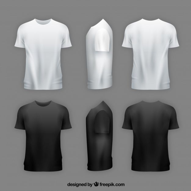 Download Men S T Shirt In Different Views With Realistic Style Mens Tshirts Clothes Hipster Sport Shirt Design