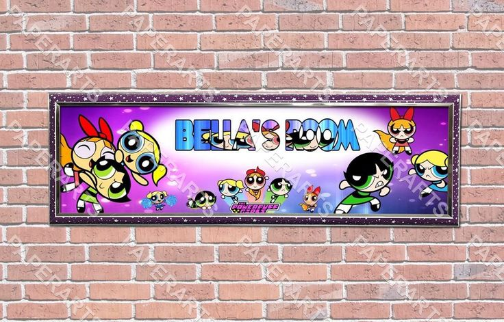 Personalized Customized Powerpuff Girls Name Banner Wall Decor Poster with Frame | Art, Art Posters | eBay!