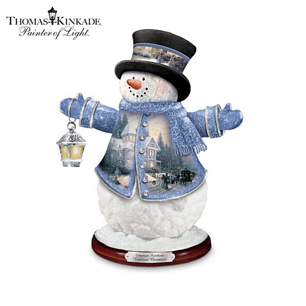 Victorian Christmas Decorations Shop Collectibles Online Daily: Thomas Kinkade Victorian Christmas Snowman Figurine