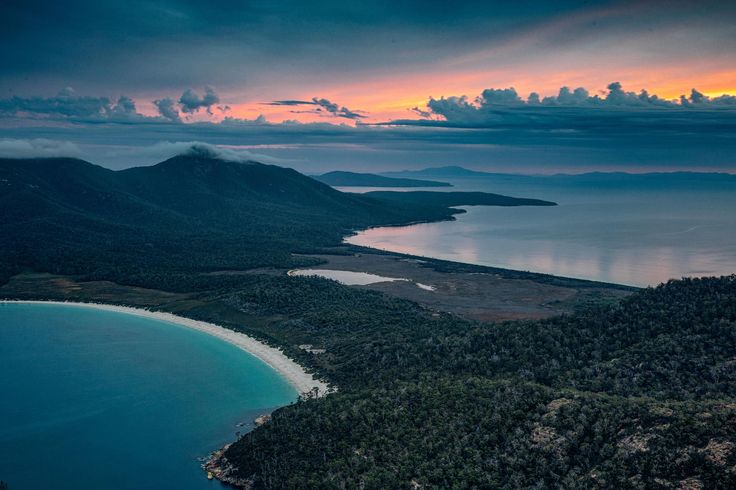 View from Mt Amos, Wineglass Bay Tasmania