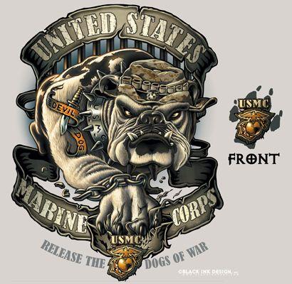 usmc logo | ... Shirt - Tan - Bulldog Logo USMC Tee ...