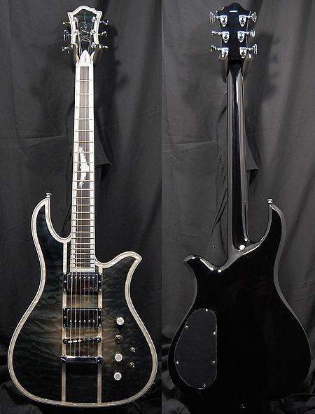 BC Rich Eagle Classic Deluxe transparent black burst Guitar