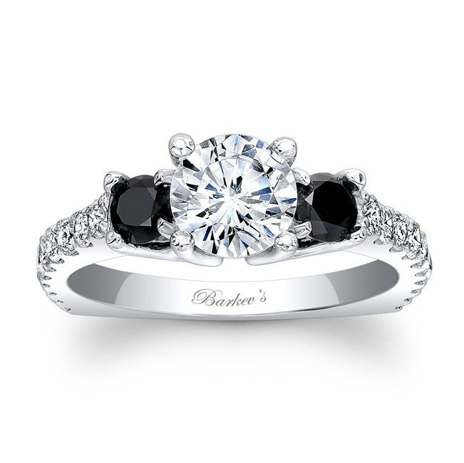 Designer Black Diamond Engagement Rings