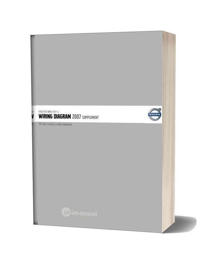 Volvo Supplement S80 07 2007 Wiring Diagram In 2020 Volvo S60 Volvo Wire