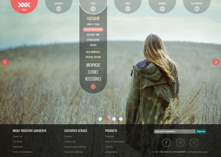 Mountain Wanderer - Category menu screen