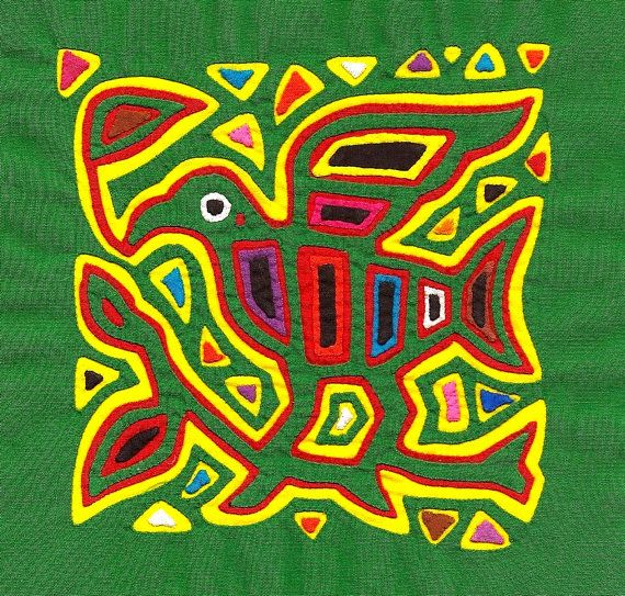 Museum Quality Mola Bird! Outstanding Kuna Indian Textile Art by molamama