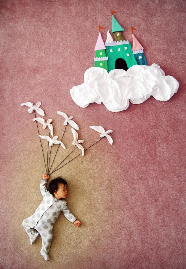 Madre creativa china coloca a su hijo dormido en aventuras inimaginables - Chinese creative mother puts her child asleep in unimaginable adventures (Queenie Liao)