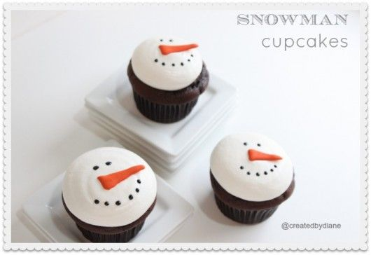 snowman cupcakes from @createdbydiane