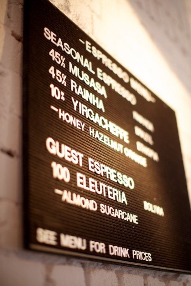 Menu board - useful for many cafe or casual settings.