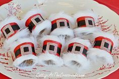 Create these adorably jolly Santa napkin rings for even less with $1 supplies…
