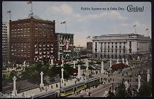 Public Square on Gala Day, Cleveland Ohio Vintage Postcards  45