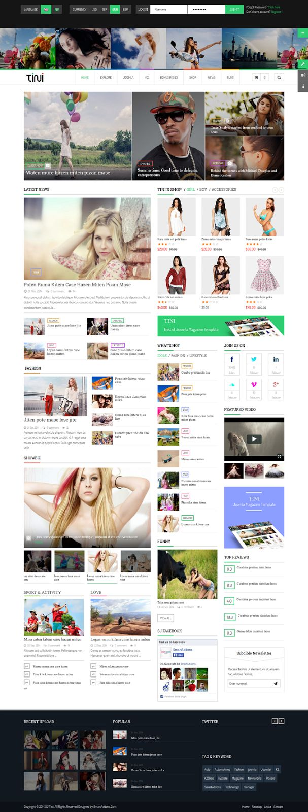 600 best website images on pinterest website designs web layout tini news magazine template with online shop joomla theme design website solutioingenieria Images