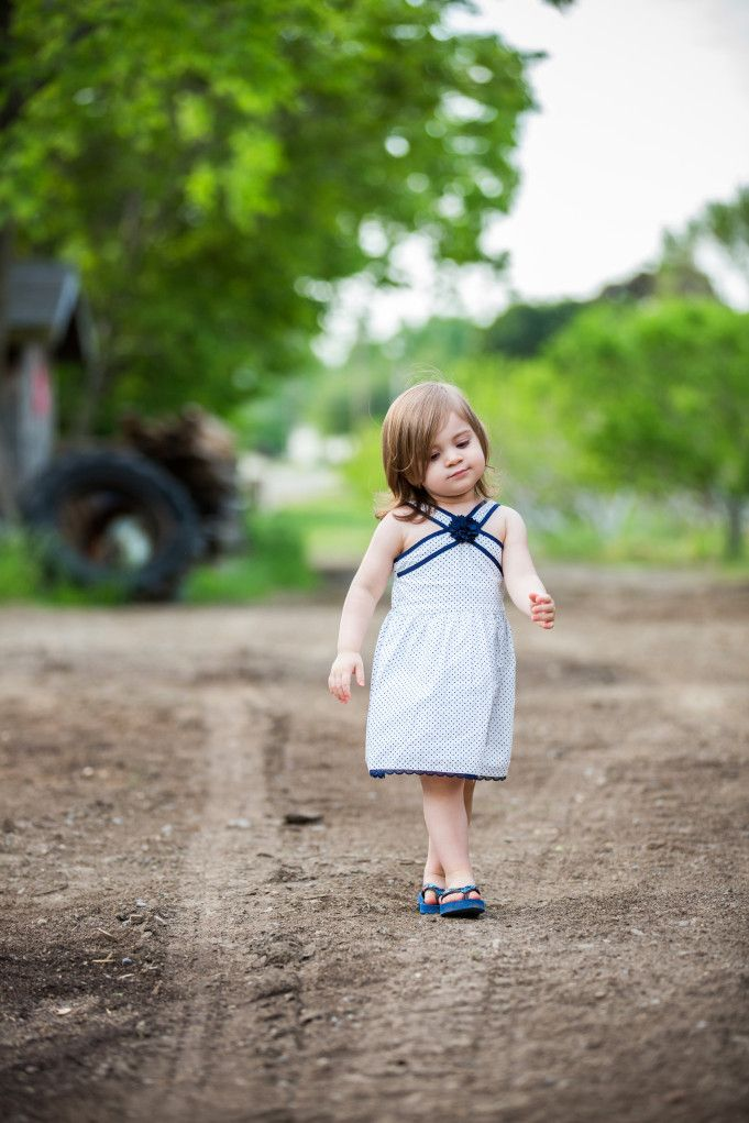 Outdoor Portraits of Toddler Girl in navy dress by @NikkiMayDay Photography | Two Bright Lights :: Blog