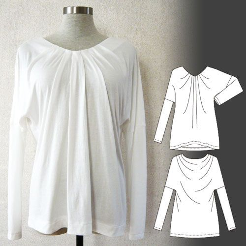 [Free Downloadable] Athena / V-neck Drape Tee - Tamanegi-kobo