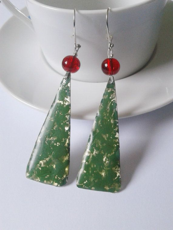 Etsy Greek Street Team: April Giveaway: win a pair of red and green earrin...