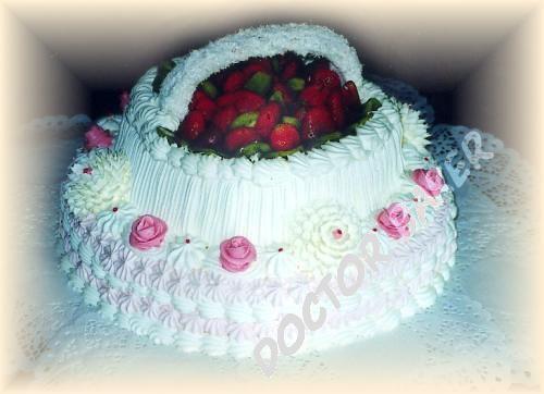 Свадебные торты в форме сердца
