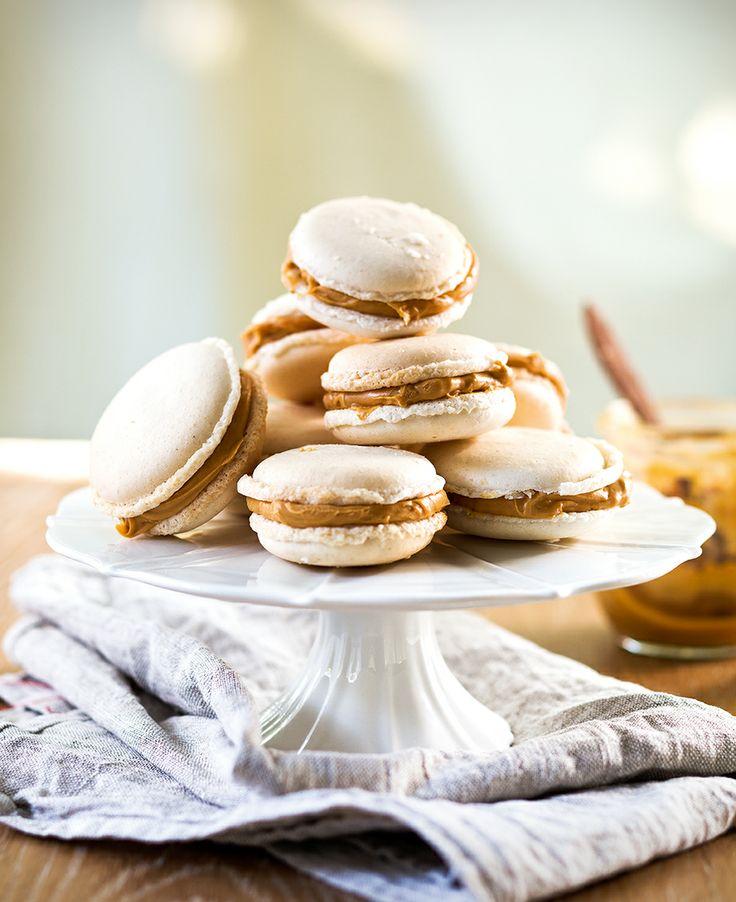 Salted caramel macarons | Thermomix #inthemixcookbook